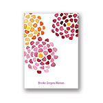 Watercolor Flowers -- Orange Personalized Note Card