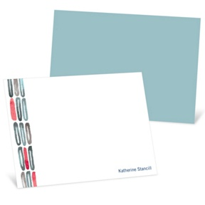 Watercolor Rings -- Blue Personalized Note Card