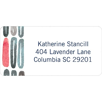 Watercolor Rings -- Blue Address Label