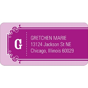 The Golden Ticket Purple -- Baby Address Labels
