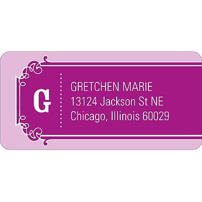 The Golden Ticket Purple Baby Address Labels