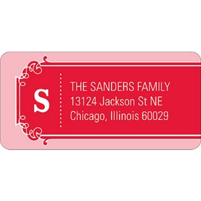 The Golden Ticket Red -- Baby Address Labels