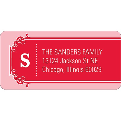 The Golden Ticket Red Baby Address Labels