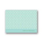 Small Pattern -- Aqua Personalized Note Card