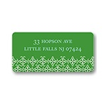 Small Pattern -- Green Address Label