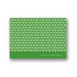 Small Pattern -- Green Personalized Note Card