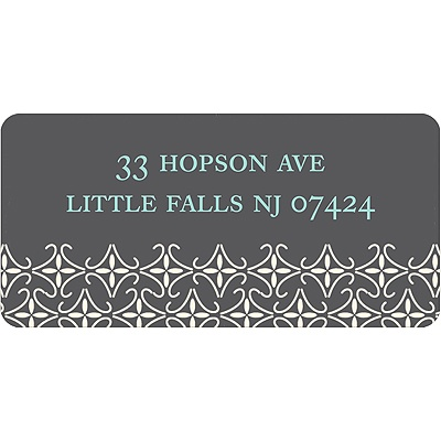 Small Pattern -- Grey Address Label