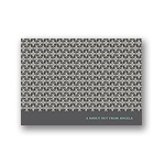 Small Pattern -- Grey Personalized Note Card