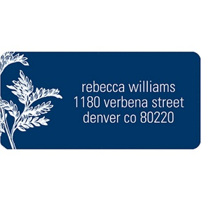 Leaves -- Address Label