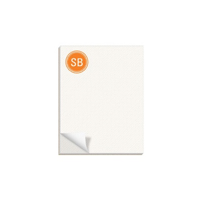 Lightly Striped Custom Notepads