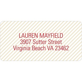 Lightly Striped -- Address Labels
