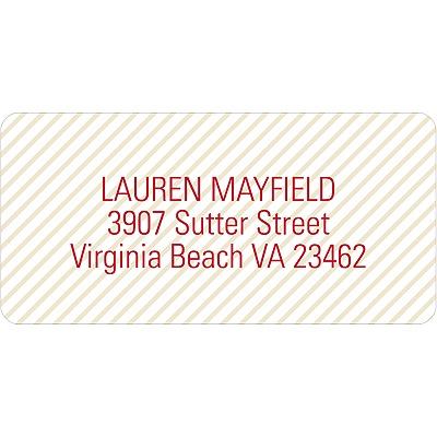 Lightly Striped Address Labels