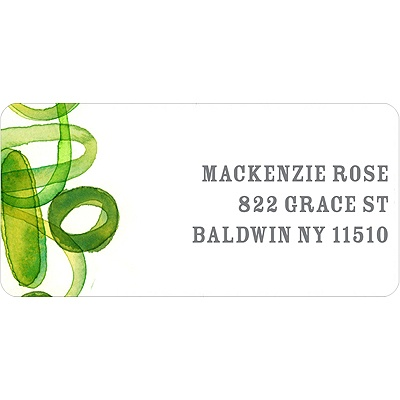 Organic Mix in Green -- Address Label
