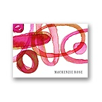 Organic Mix in Pink -- Personalized Note Card