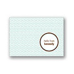 Never-Ending Swirls -- Personalized Note Card