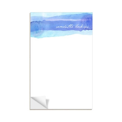 Blue Watercolor Custom Notepads