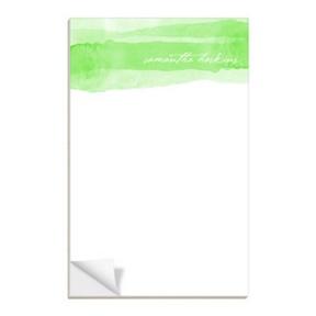 Green Watercolor -- Custom Notepads