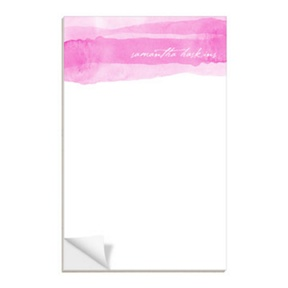 Pink Watercolor -- Notepads
