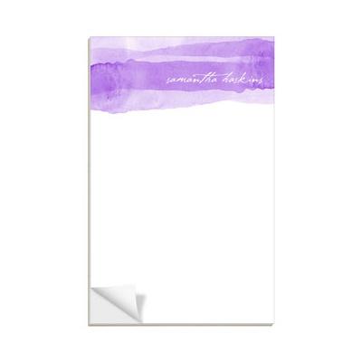 Purple Watercolor Custom Notepads