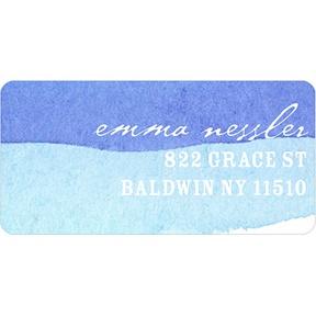 Blue Watercolor -- Address Label