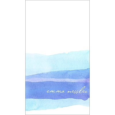 Blue Watercolor Personalized Note Card