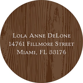 Wood Grain -- Address Label