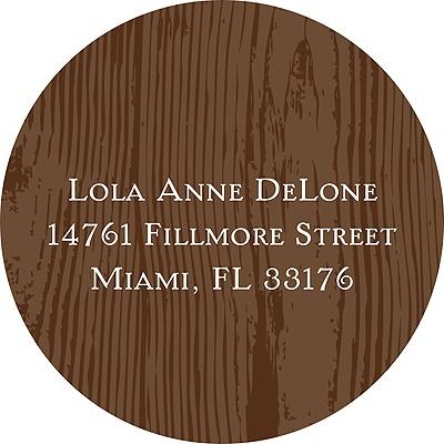 Wood Grain Address Label