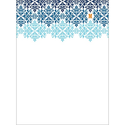 Changing Hues in Blue -- Personalized Note Card