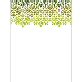 Changing Hues in Green -- Personalized Note Card