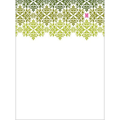 Changing Hues in Green Personalized Note Card