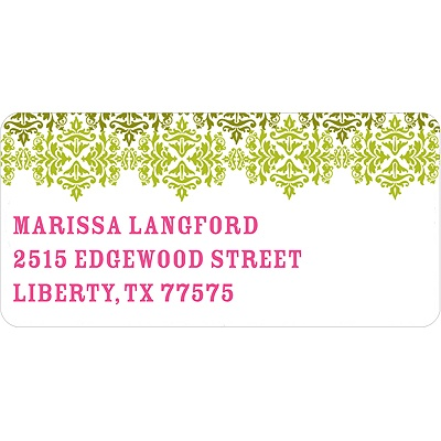 Changing Hues in Green Address Label