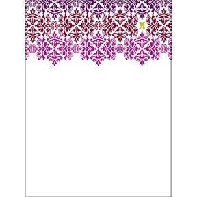 Changing Hues in Purple -- Personalized Note Card
