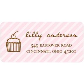 Cupcake Love -- Kids Address Label