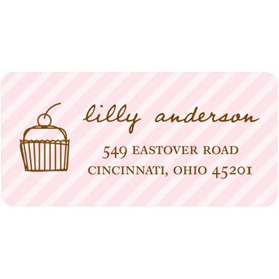 Cupcake Love -- Kids Address Label