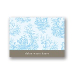 Memories in Blue -- Toile Thank You Card