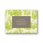 Memories in Green -- Toile Birth Announcement