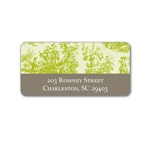 Memories in Green -- Toile Address Label