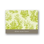Memories in Green -- Toile Thank You Card