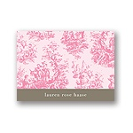 Memories in Pink -- Toile Thank You Card