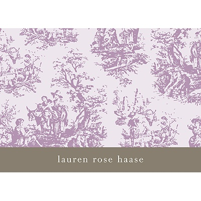 Memories in Purple -- Toile Thank You Card
