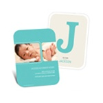 B is for Baby --  Boy Monogrammed Birth Announcements