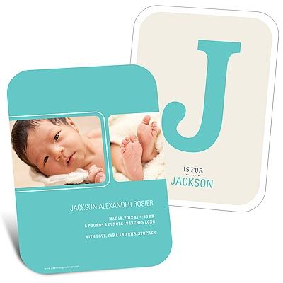 B is for Baby Boy Birth Announcements