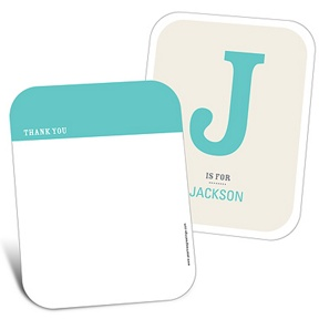B is for Baby -- Baby Thank You Cards