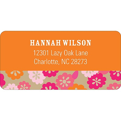 Array of Flowers -- Address Label