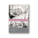 Simply Sweet -- Collage Birth Announcement