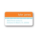 Stripes and Scallops -- Boy Cute Address Label