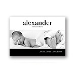 Bold Baby -- Boy Photo Birth Announcement