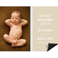 Lovely Stripes Blue Magnet Birth Announcements