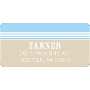 Lovely Stripes in Blue -- Baby Address Labels
