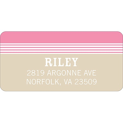 Lovely Stripes in Pink Baby Address Labels